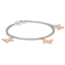 Two Tone Stainless Steel Butterfly bracelet