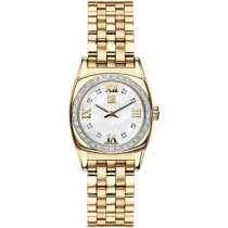ESQ by Movado Ladies Hampshire Stainless Steel Gold Tone Mother Of Pearl Diamond Watch