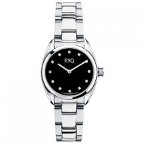 ESQ by Movado Ladies Watch Stainless Steel Sport Classic Black Dial w/ Diamonds
