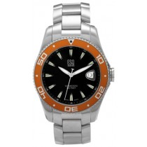 ESQ by Movado Mens Watch Stainless Steel Tournament w/ Black Dial
