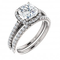 Valencia halo diamond engagement ring