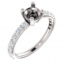 Split prong Sorrentino design common prong engagement ring