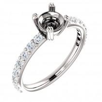 Split prong Sorrentino design common prong engagement ring