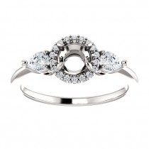 Florencia diamond halo engagement ring setting