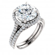 Traditional Halo Engagement ring