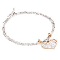 Romantica Bracelet Two Tone Heart