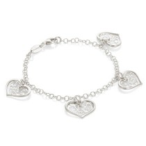 Romantica Bracelet w/ Four Hearts