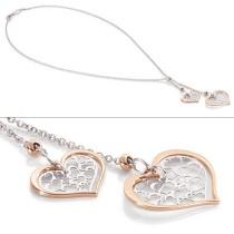 Romantica Pendant w/ 2 Two Tone Hearts