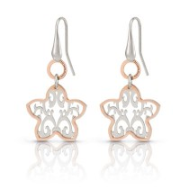 Romantica Earrings w/ two tone Flower