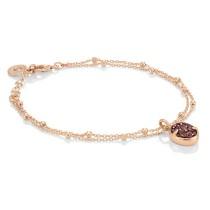 Rose gold Plated Elisa bracelet w/ Drusy stones