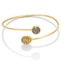 Yellow Tone Elisa bracelet w/ Drusy