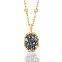 Gold tone Elisa Pendant w/ Drusy stones