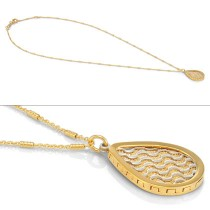 Gold Plated Laila pendant