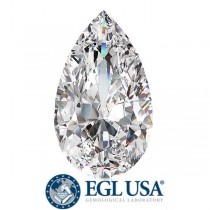 "1.02 Ct. Loose Pear Shape Diamond ""G"" Color, ""SI2"" Clarity, EGL USA Certified"