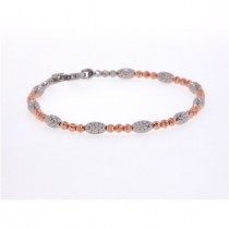 .925 Gothic mars collection two tone Bracelet