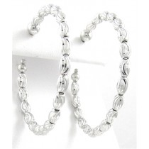 .925 Diamond Cut oval beaded earrings