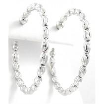 .925 Diamond Cut oval beaded earrings