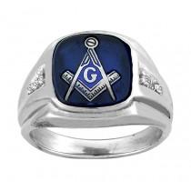 Blue Saphire Mason ring