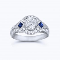 Gorgeous 1.07 round cut brilliant diamond engagement ring