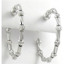 .925 Tube collecton silver hoops 2.5 cm