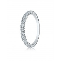 14k 2.5mm .48ct white gold common prong ring