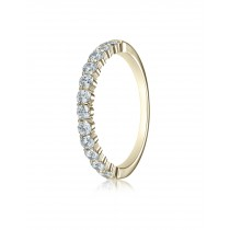 14k 2.5mm .48ct yellow gold common prong ring