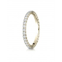 14k 2mm .64ct yellow gold eternity ring