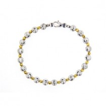 .925 Two Tone Alternating Bead Bracelet