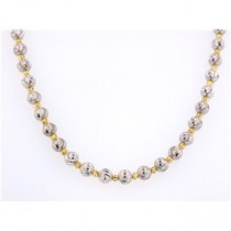 .925 Round Bead two tone necklace