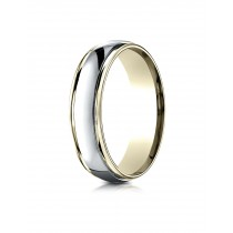 14k Two Tone high polishd ring