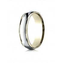 14k Two Tone high polishd ring