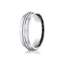 14k white gold carved Ring