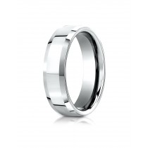 14k white gold High polished ring