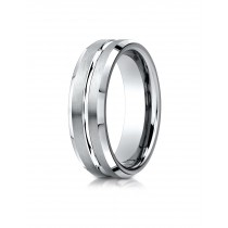 14k white gold designer carved ring