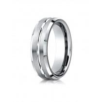 14k white gold designer carved ring