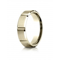 14k yellow gold rectangle carved ring