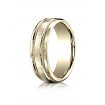 14k 7.5 mm yellow gold double rope  ring