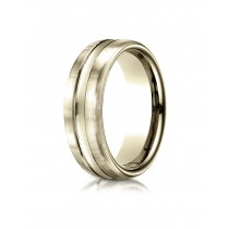 14k 7.5 mm Yellow gold center cut ring