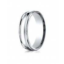 14k double miligrain white gold ring