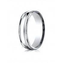 14k double miligrain white gold ring
