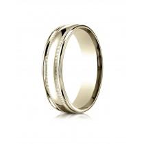 14k double miligrain yellow gold ring