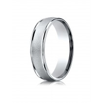 14k White gold high polish and satin finish ring