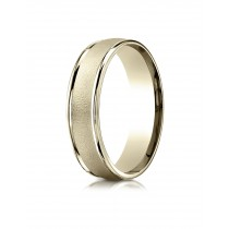 14k yellow gold high polish and satin finish ring