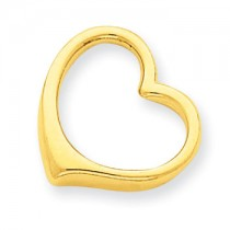 Gold heart chain slide