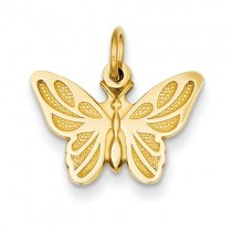 14 yellow gold butterfly charm