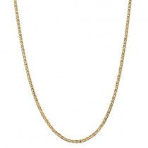 "18"" 14k 3.75mm Concave Anchor Chain"