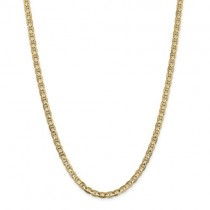 "18"" 14k 4.5mm Concave Anchor Chain"