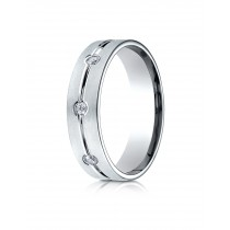 14k .12 ct white gold mens designer ring