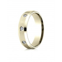 14k .12 ct yellow gold mens designer bezel set band