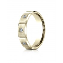 14k .32ct yellow gold burnishh set mens ring